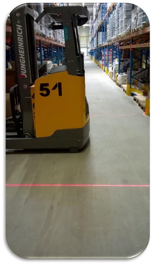 Lampy Red Zone Czerwona Strefa Bezpieczeństwa Strefa
